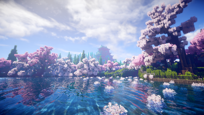 【Minecraft】樱花公园——仿佛置身于动漫场景 白小久