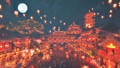 【Minecraft】金陵—夜泊秦淮  白小久
