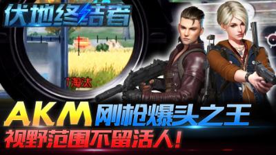 伏地终结者13:AKM刚枪爆头之王,视野范围不留活人!