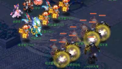 梦幻西游: 175级4狮驼变身4鬼将, 暴力输出, 鹰击爆必10049!