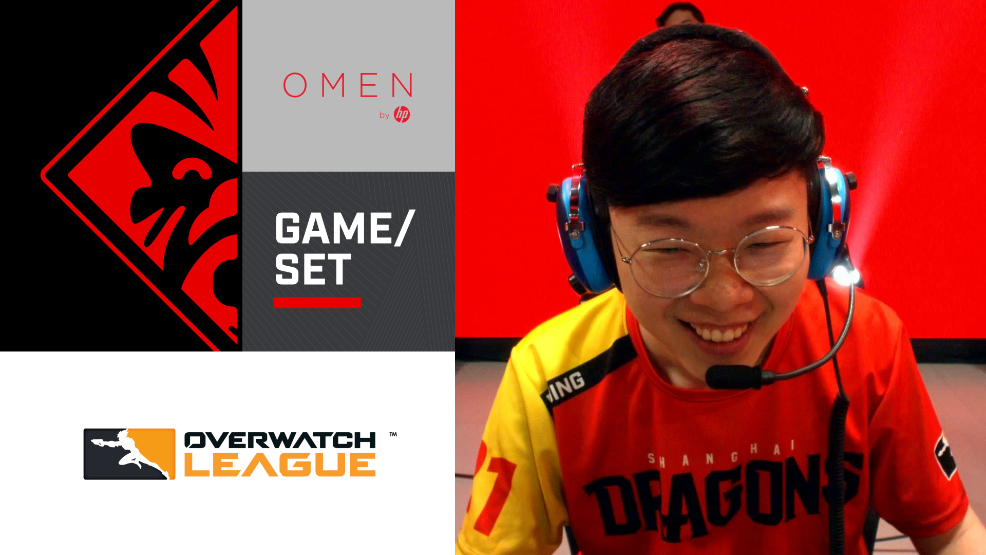 Game/Set mit DDing von den Shanghai Dragons